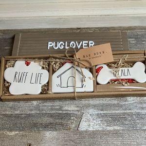 New! RAE DUNN Dog Flat Ornaments 🎁🎄🐾